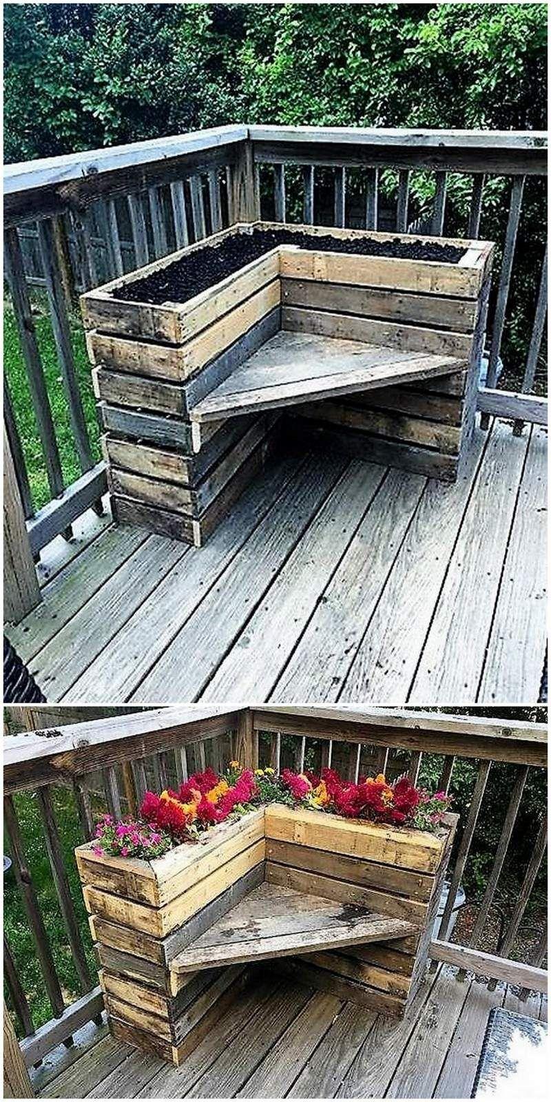 pallet wood planter idea