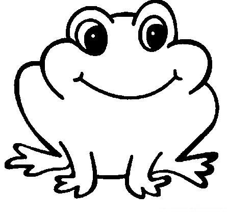 Coloriage Grenouille Maternelle Frog Crafts Black White Cartoon