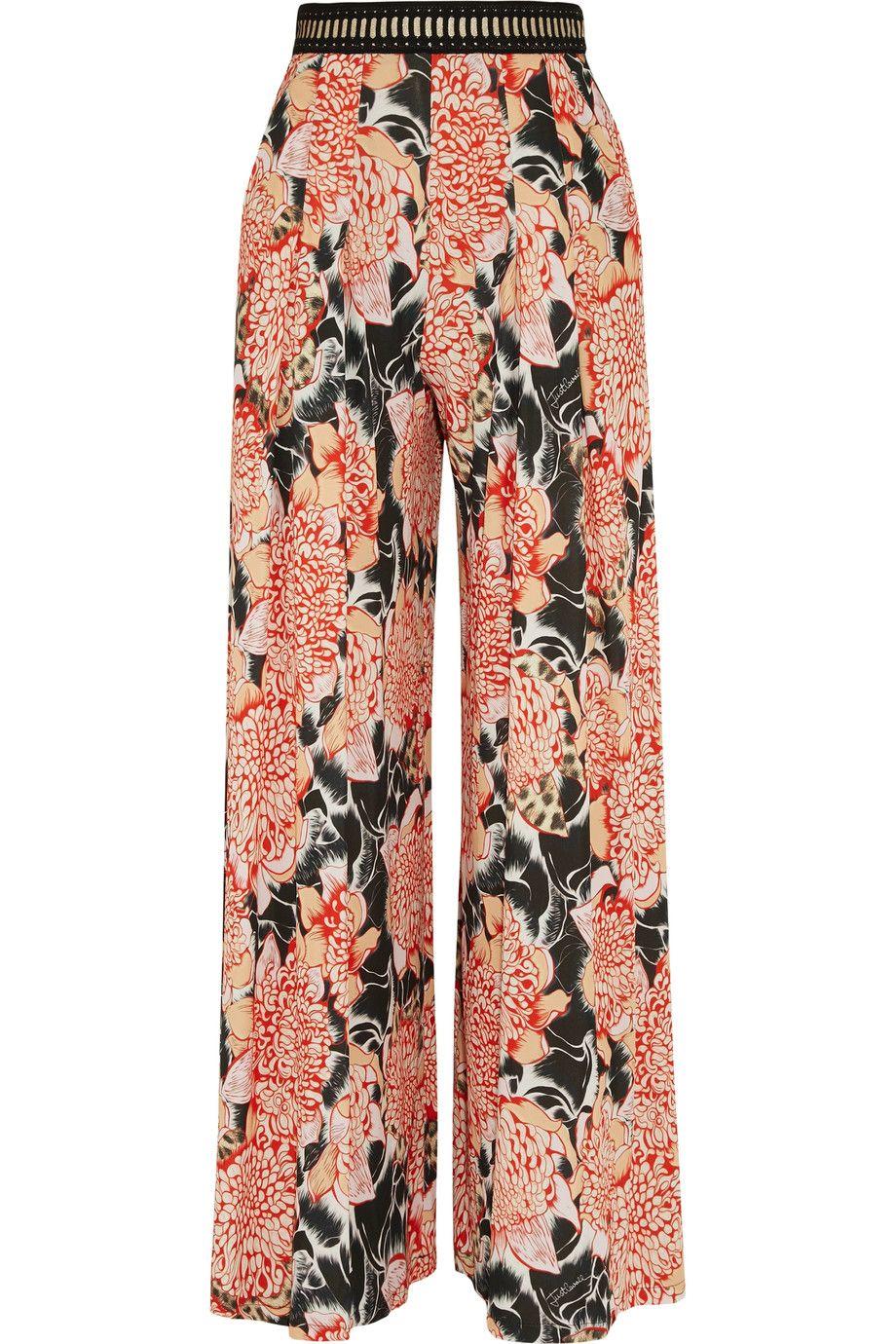 Just Cavalli Woman Jersey Wide-leg Pants Red Size 38 Just Cavalli RBfsBFF7W