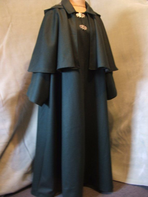 Victorian travel cloak. Wizard Fashion, Harry Potter ...