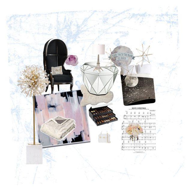 """White winter spitit"" by calassosana on Polyvore featuring interior, interiors, interior design, maison, home decor, interior decorating, Daum, Serena & Lily, Pier 1 Imports et OKA"