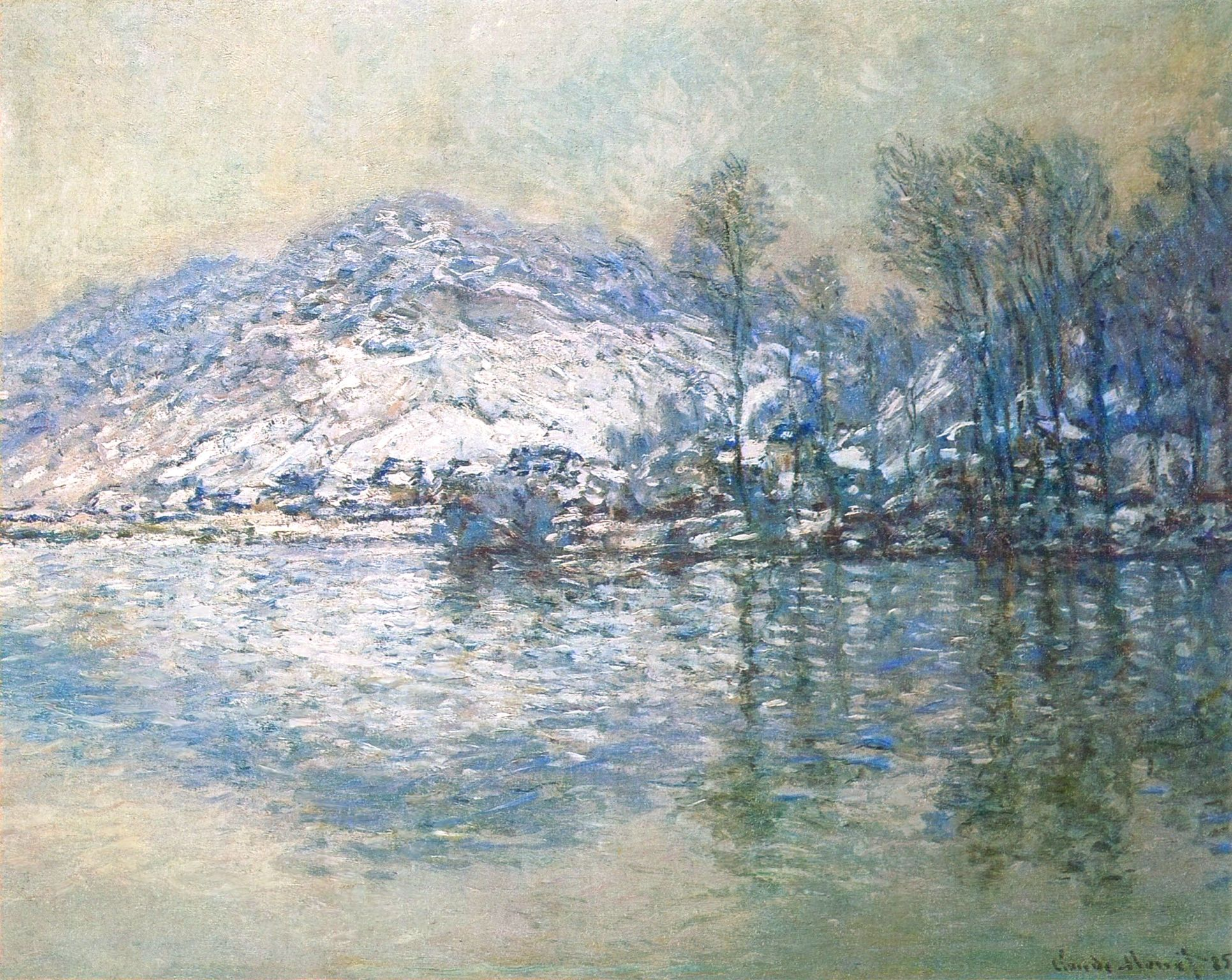 The Seine at Port Villez, Snow Effect, 1885 - Claude Monet | Claude monet  paintings, Monet art, Artist monet