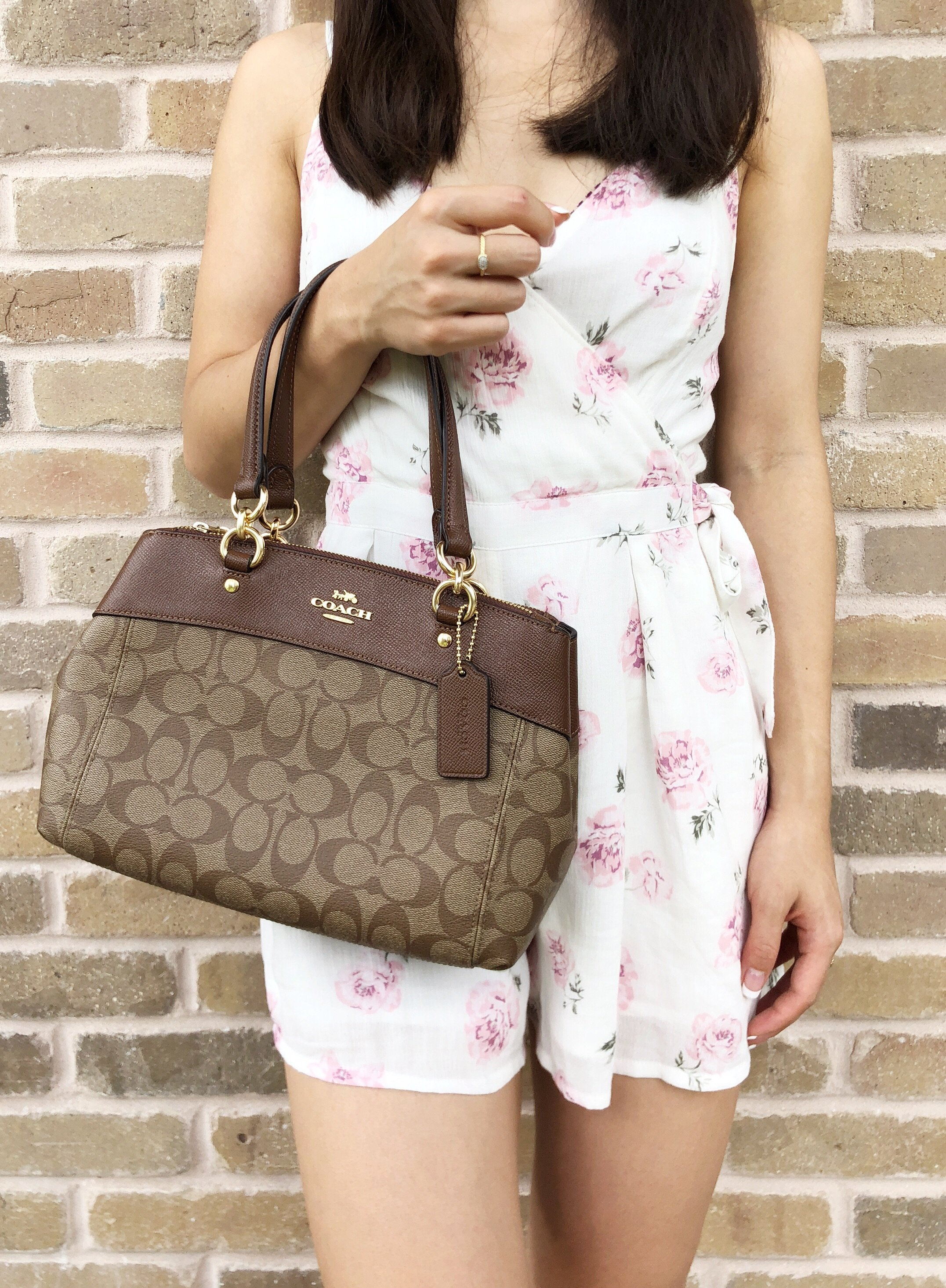 0a6f2b9b6f67 Coach F26139 Mini Brooke Carryall Satchel Handbag Crossbody Signature Khaki   GabysBags  Handbags