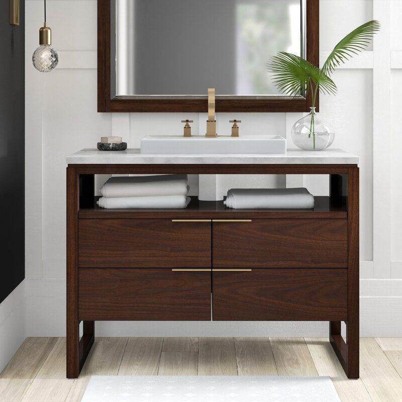Wigington 43 Single Bathroom Vanity Set Bathroom Vanity Base Single Bathroom Vanity Contemporary Bathroom Vanity