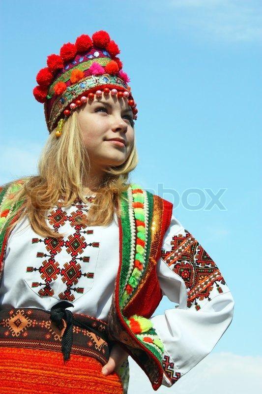 Stock Bild Von Das Madchen In Der Ukrainischen Nationalen Kostum Ukrainian Beauty Etno Madchen Frau Ukrainisch