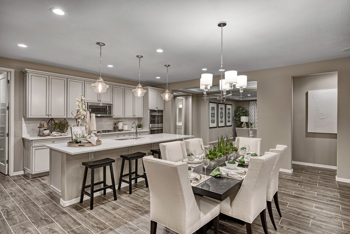 Statement Lighting Plenty Of Cabinetry In 2020 American Home Design Log Home Kitchens New Kitchen Designs
