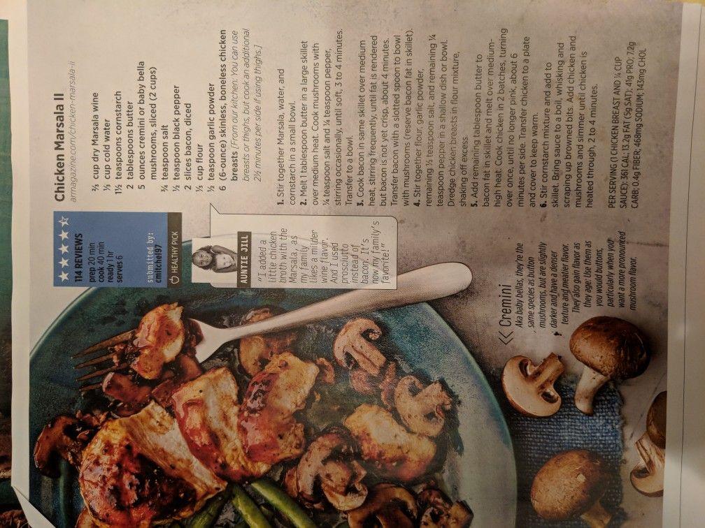 Chicken marsala Main Meal Pinterest - grimm küchen rastatt