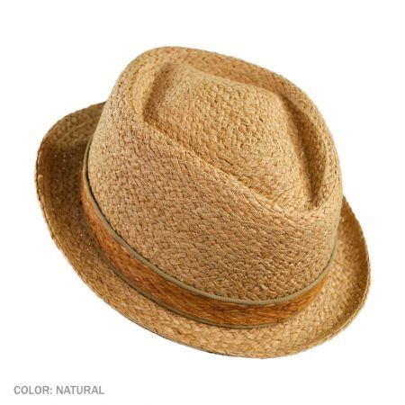 e6120ab9 Jaxon Hats Raffia Diamond Crown Pork Pie Hat Straw Fedora, Fedora Hat, Jaxon  Hats