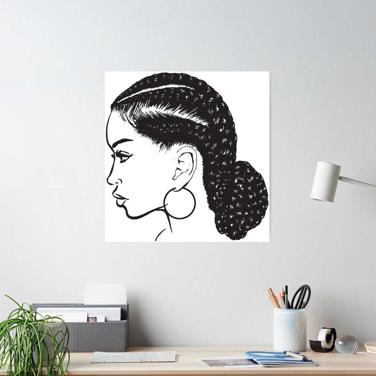 Black Woman Braids Hairstyle African American Beauty Salon Poster In 2020 Braids For Black Women African Braids Hairstyles African American Beauty