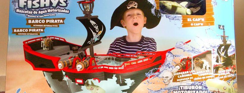 Barco Pirata con Acuario y tiburón motorizado Lil Fishys de Nabumbu ▲▲▲ www.unamamanovata.com ▲▲▲ #unamamanovata #juguetes #lilfishys