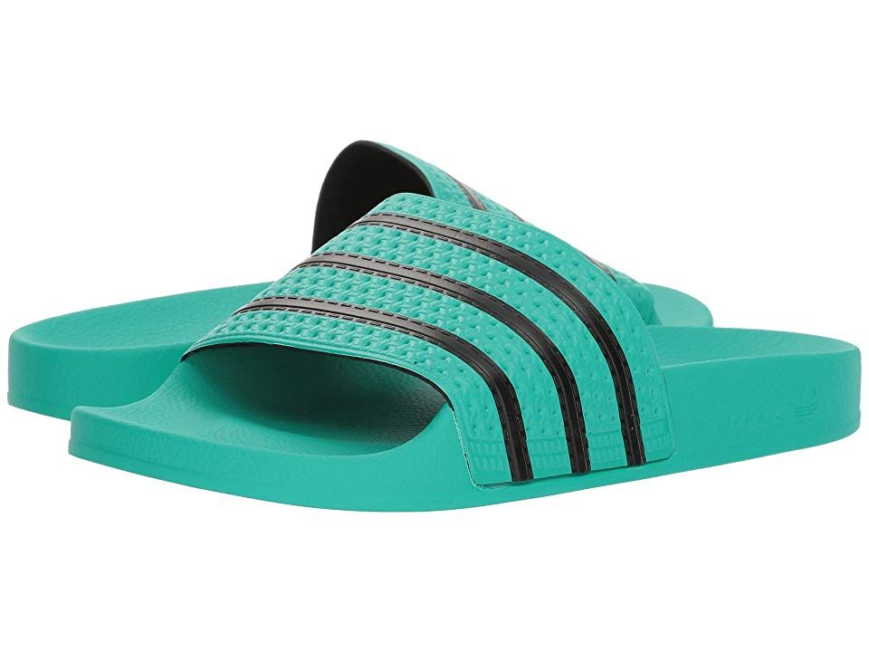 27f214d66 adidas Originals adilette Men s Slide Shoes Hi-Res Green S18 Core  Black Hi-Res Green S18