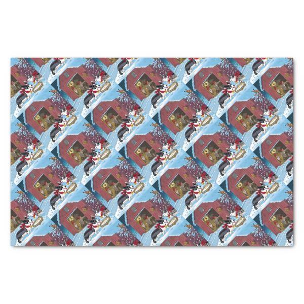 Corgi Christmas Tissue Paper Christmas Giftwrap Xmas