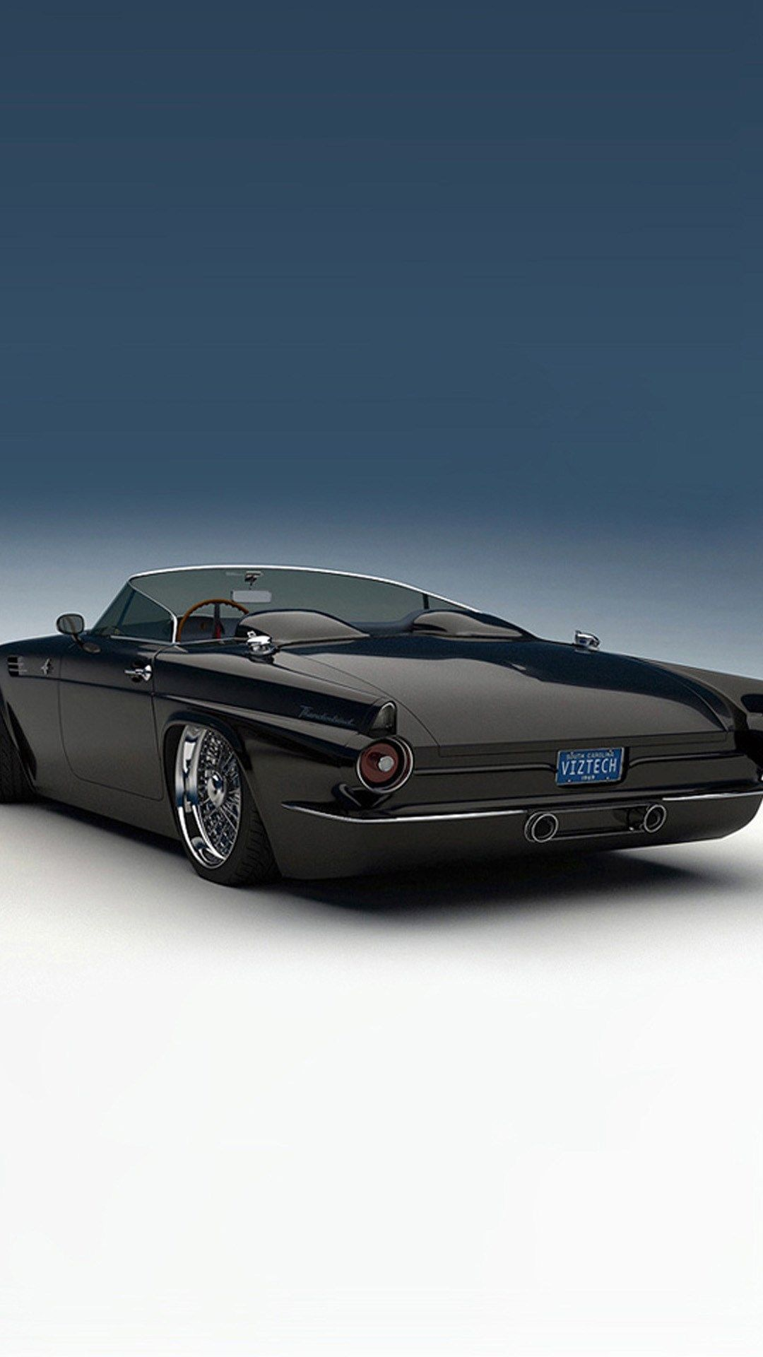 Ford Thunderbird 1955 Custom Hd Wallpaper Iphone