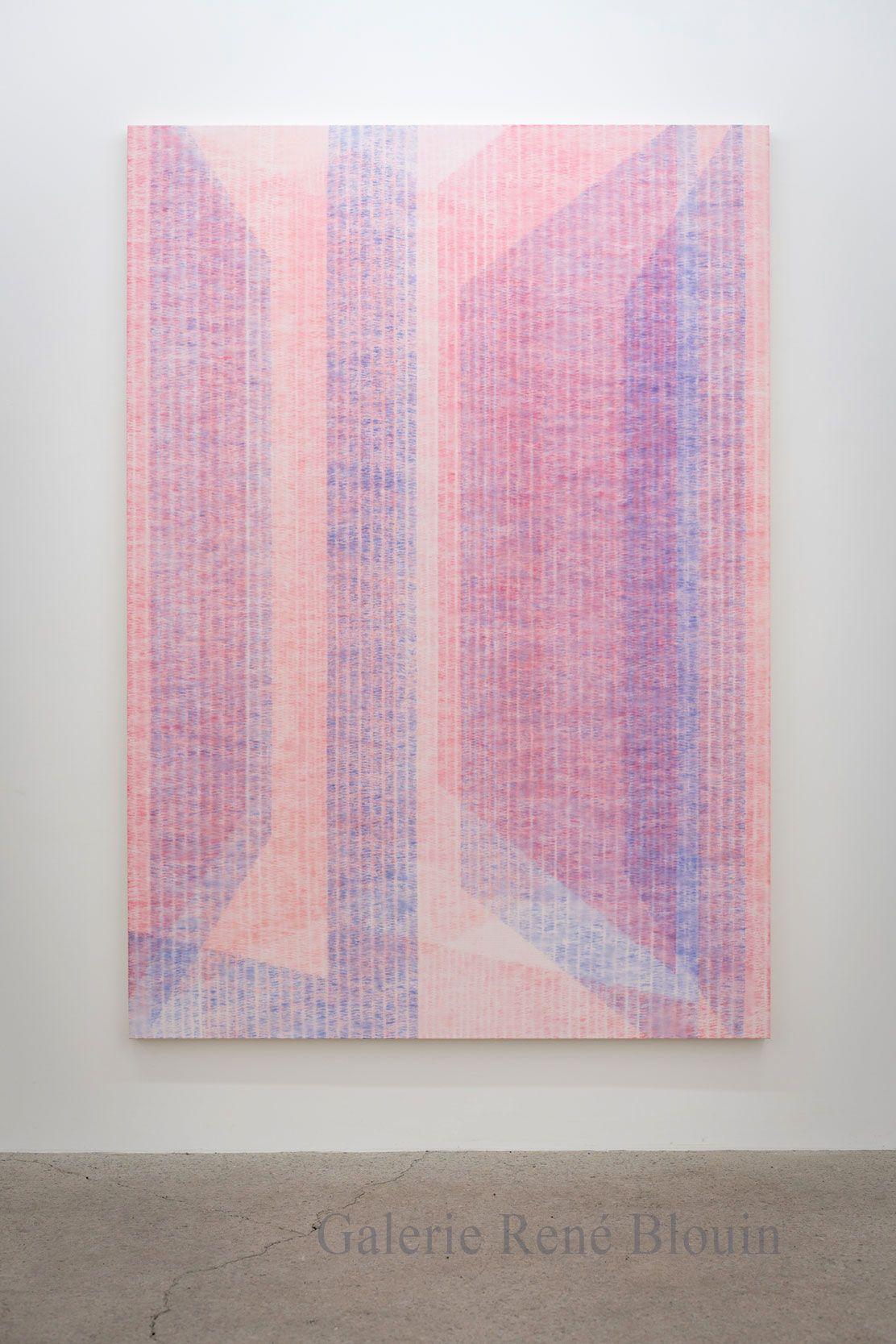 Marie-Claire Blais, Être la porte qui s'ouvre 10, 2017, acrylique sur toile, 216 x 152 cm /85 x 60 pouces. Photo : Marie-Claire Blais