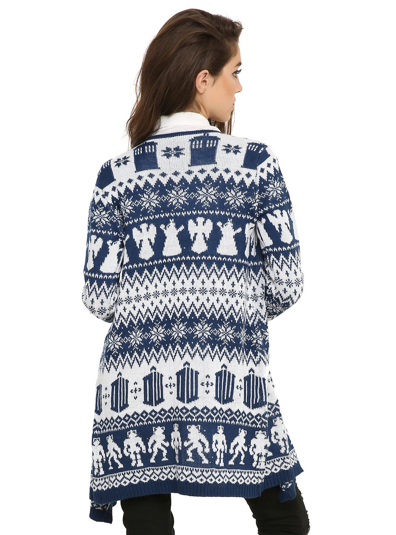 Doctor Who Fair Isle Girls Open Cardigan, | I Need This In My ...