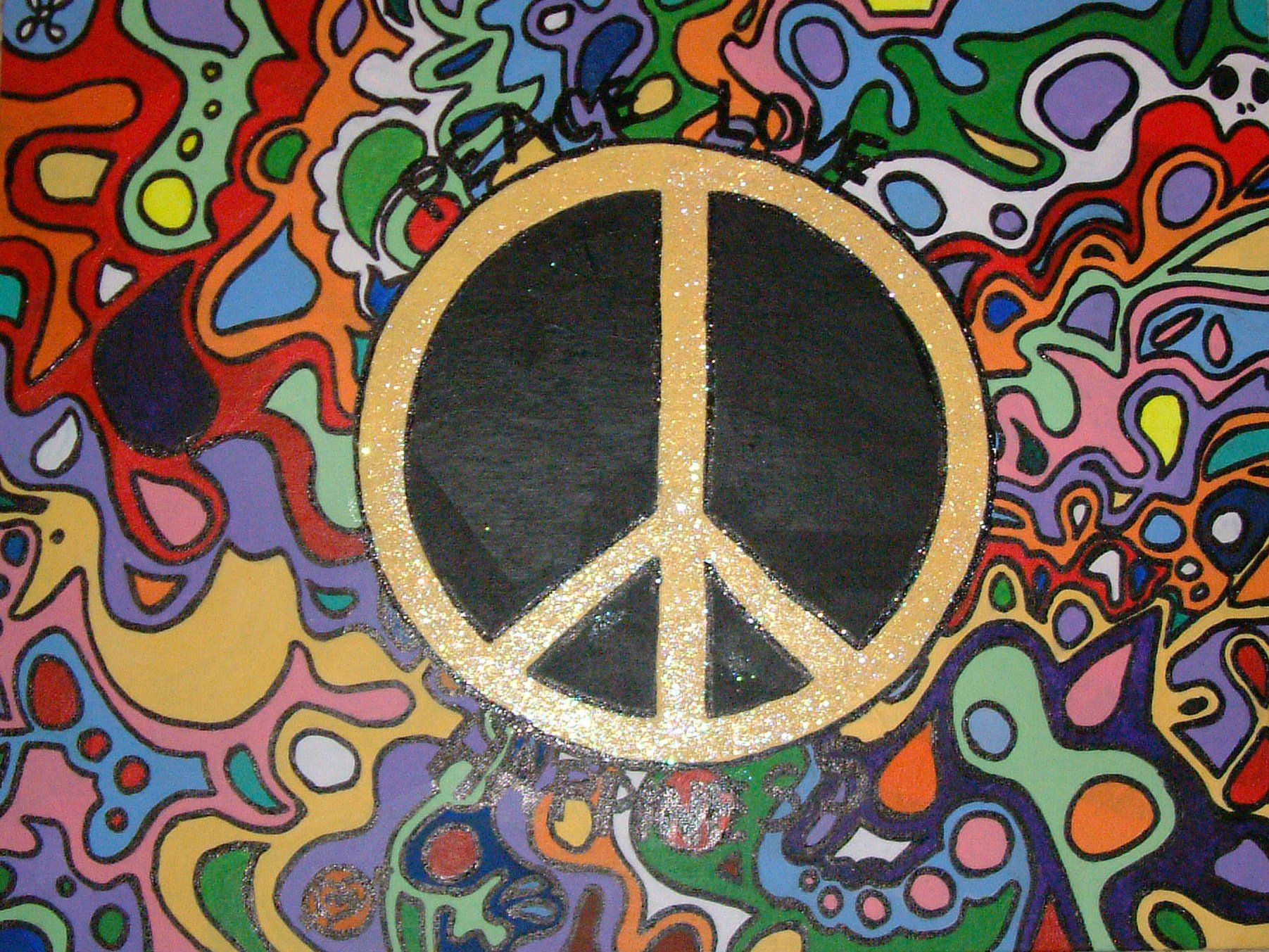 Peace Love And Happiness By C Roll Peace Symbols Pinterest