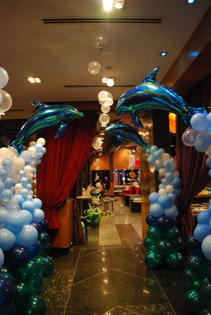 Balon s sleme nas l yap l r theme ideas mermaid and for Balloon decoration ideas for a quinceanera