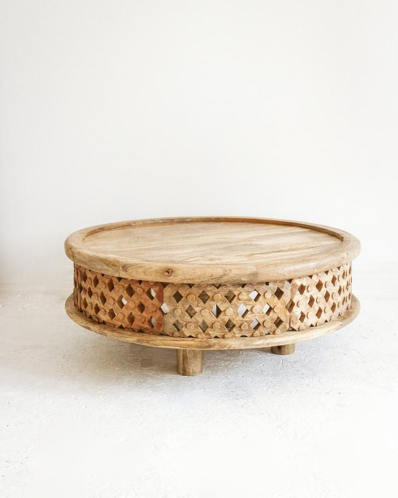 Hand Carved Coffee Table Natural Mango Wood Coffee Table Indian Carved Coffee Table Round Living Room Coffee Table Round Coffee Table Coffee Table Wood Round Wood Coffee Table Coffee Table [ 993 x 794 Pixel ]