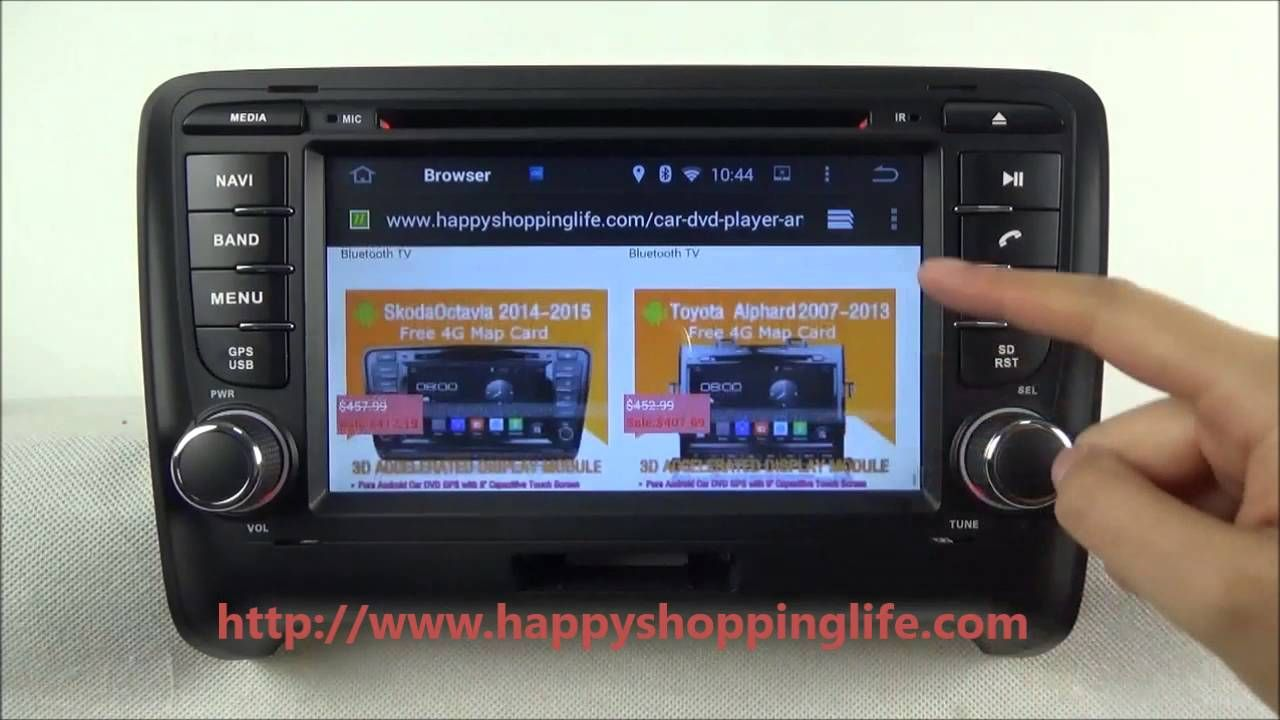 Android car dvd player for audi tt gps navigation wifi 3g usb sale 597 74