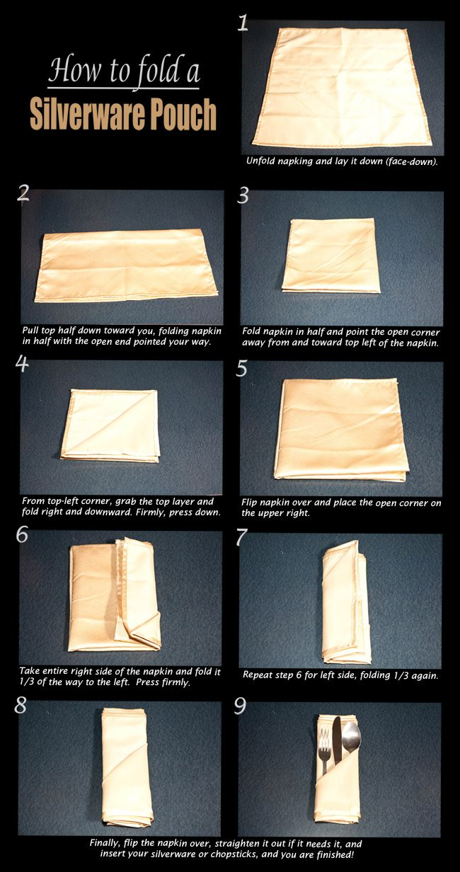 how to fold napkins to hold silverware