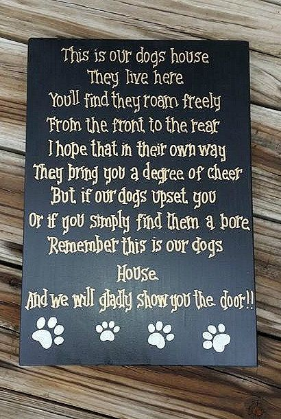 Pet Rules For The Home Rules For Non Pet Owners Hand Pet Signs Dog Home Decor Diy Dog Stuff