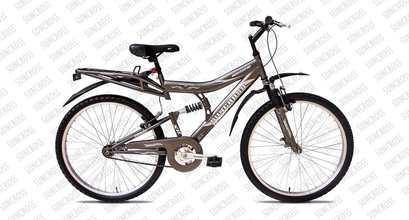 Boyzone Single Speed Full Suspension Bicycle Hybrid Bike