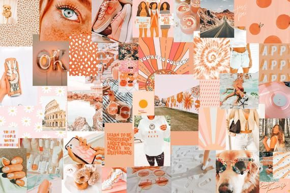 Read the full title 70 Picture Peachy Print Pack Collage Kit download Peach Aesthetic download