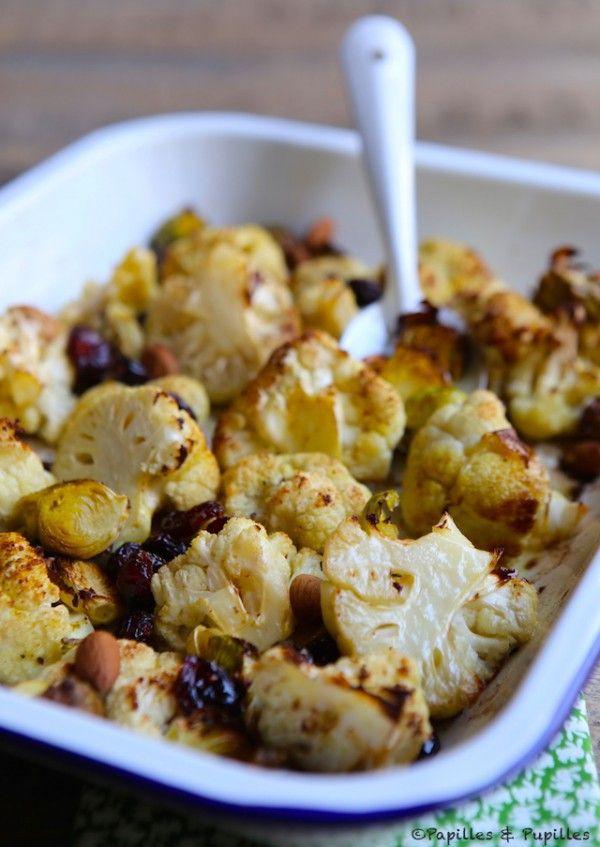 Chou Fleur Et Choux De Bruxelles Rotis Au Four Recettes De Cuisine Choux De Bruxelles Rotis Recette Choux De Bruxelles