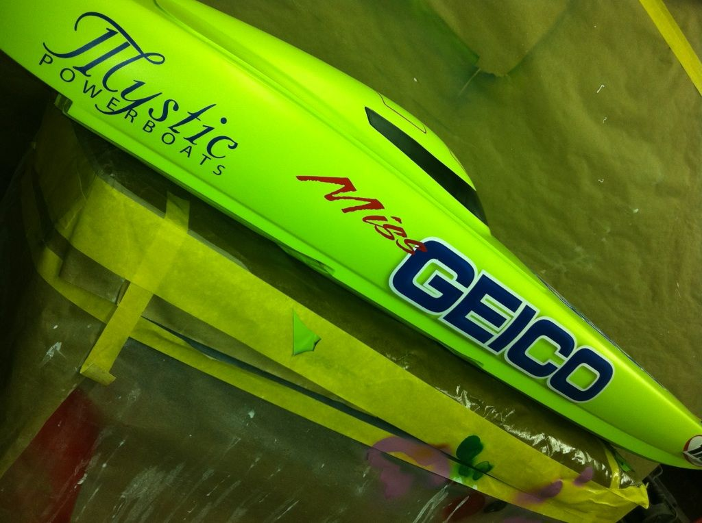 Miss Geico boat
