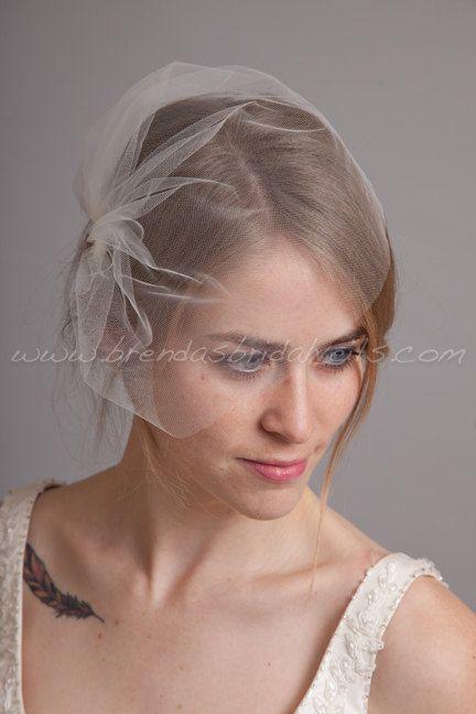 Tulle Wedge Birdcage Veil Bridal White By Brendasbridalveils 24 95