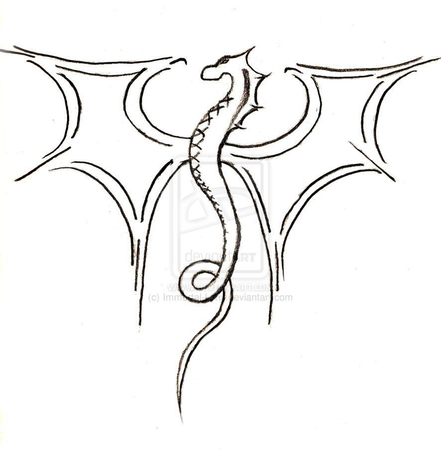 36a0858b8162a44bb67854e6e12bb546 » Cool Dragon Drawing
