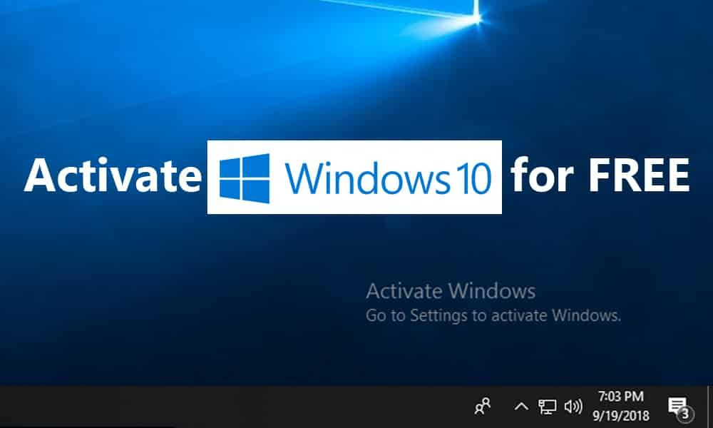 why does it say activate windows go to settings to activate windows