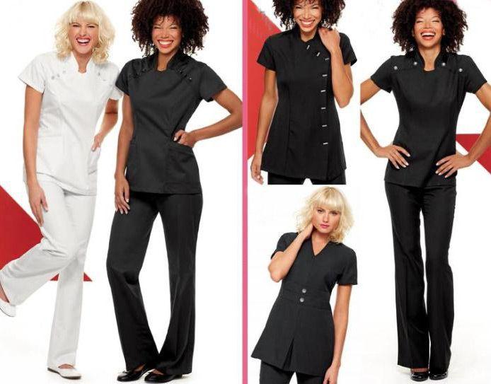 Spa uniforms esthetician passion pinterest spa and for Spa uniform australia