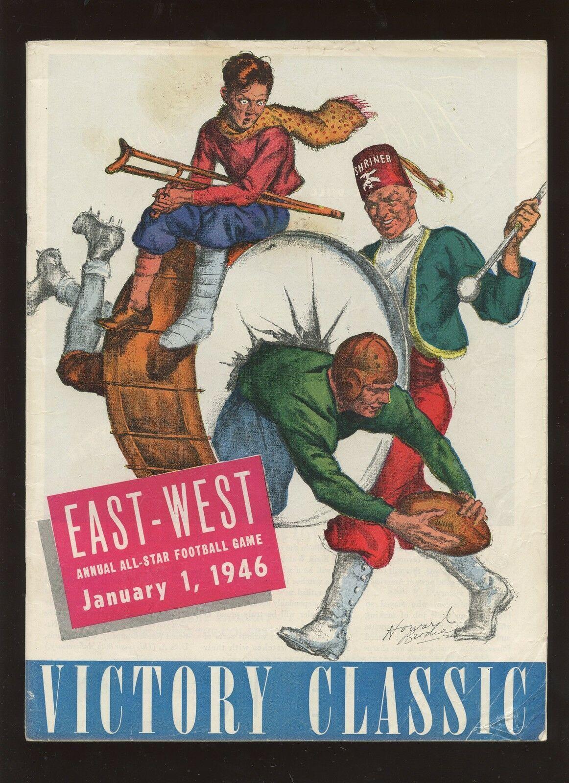 1946 NCAA Football East West All Star Game Program nel 2020