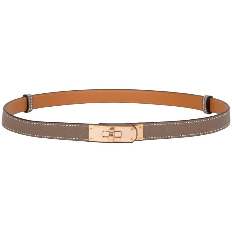 d04e5928a7f6 NEW Hermes Kelly Belt In Rose Gold and Etoupe in 2019