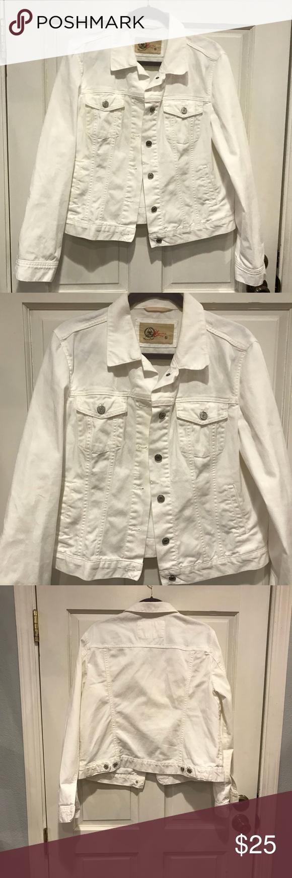Gap 1969 Xl Limited Edition White Denim Jacket White Denim Jacket White Denim Jackets [ 1740 x 580 Pixel ]