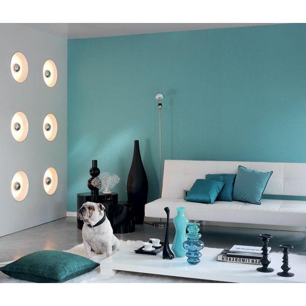 Papier peint bleu collection Fusion de Casadéco, chambre, pièce à