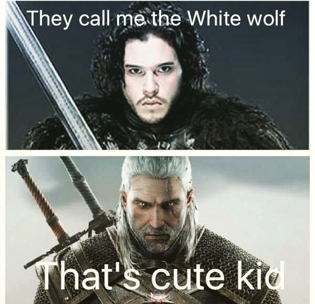 Jon Snow And Geralt Of Rivia The Witcher The Witcher
