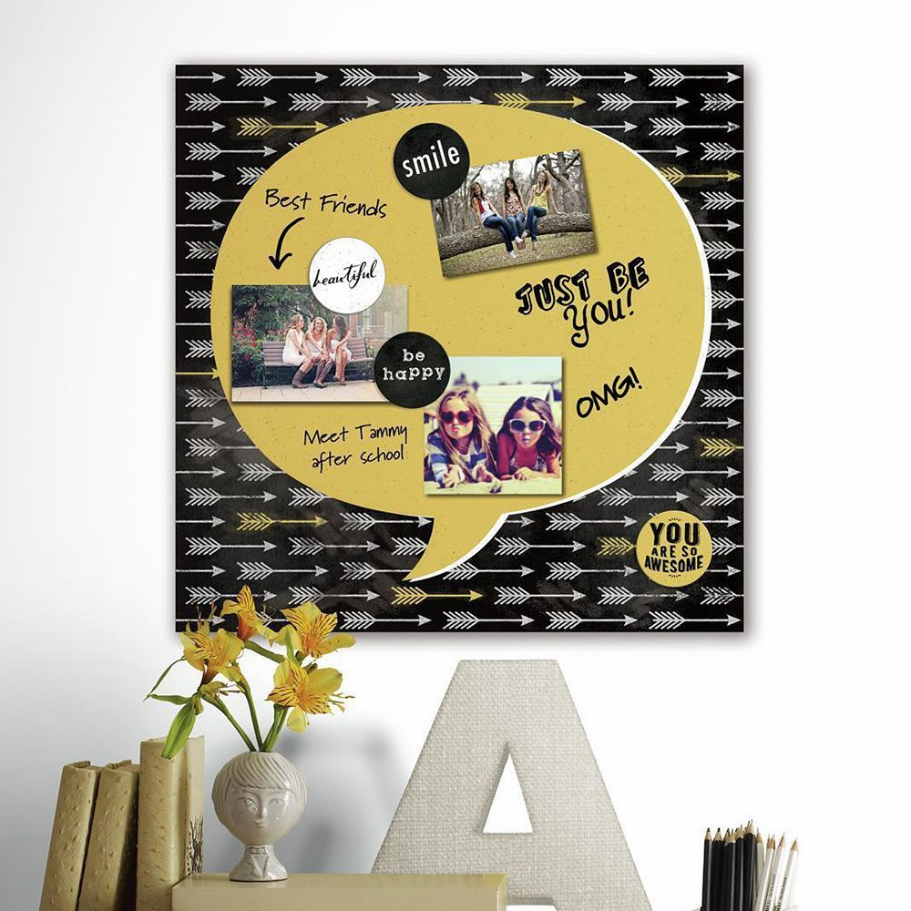 Quote Bubble 5-piece Magnetic Dry Erase Wall Art Set, Gold | Dry ...