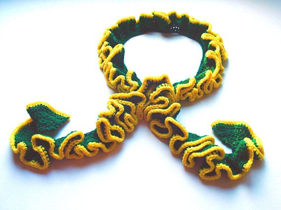 Crocheted Green Bay Packer scarf | NFL | Pinterest ...