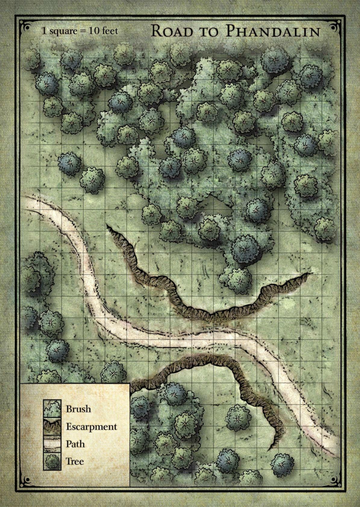 Estrada Para Phandalin Mapa De Fantasia Mapas Clasicos Mapas