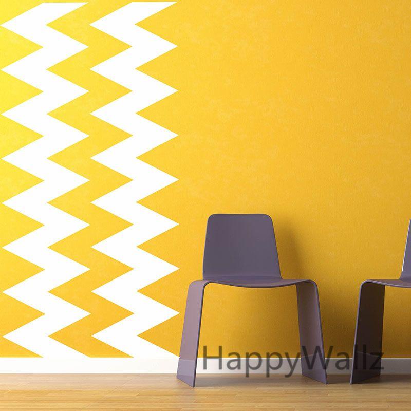 DIY Chevron Stripes Wall Stickers Decorative Chevron Wall Decals ...