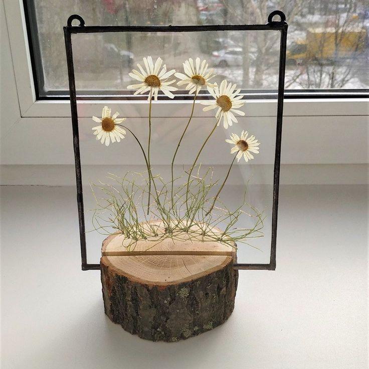 Photo of Mutter Geschenk gepresste Blumen Wandkunst Blumen auf dem Rasen im Rahmen – Kunst an der Wand im Kinderzimmer am Seil oder an der Kette