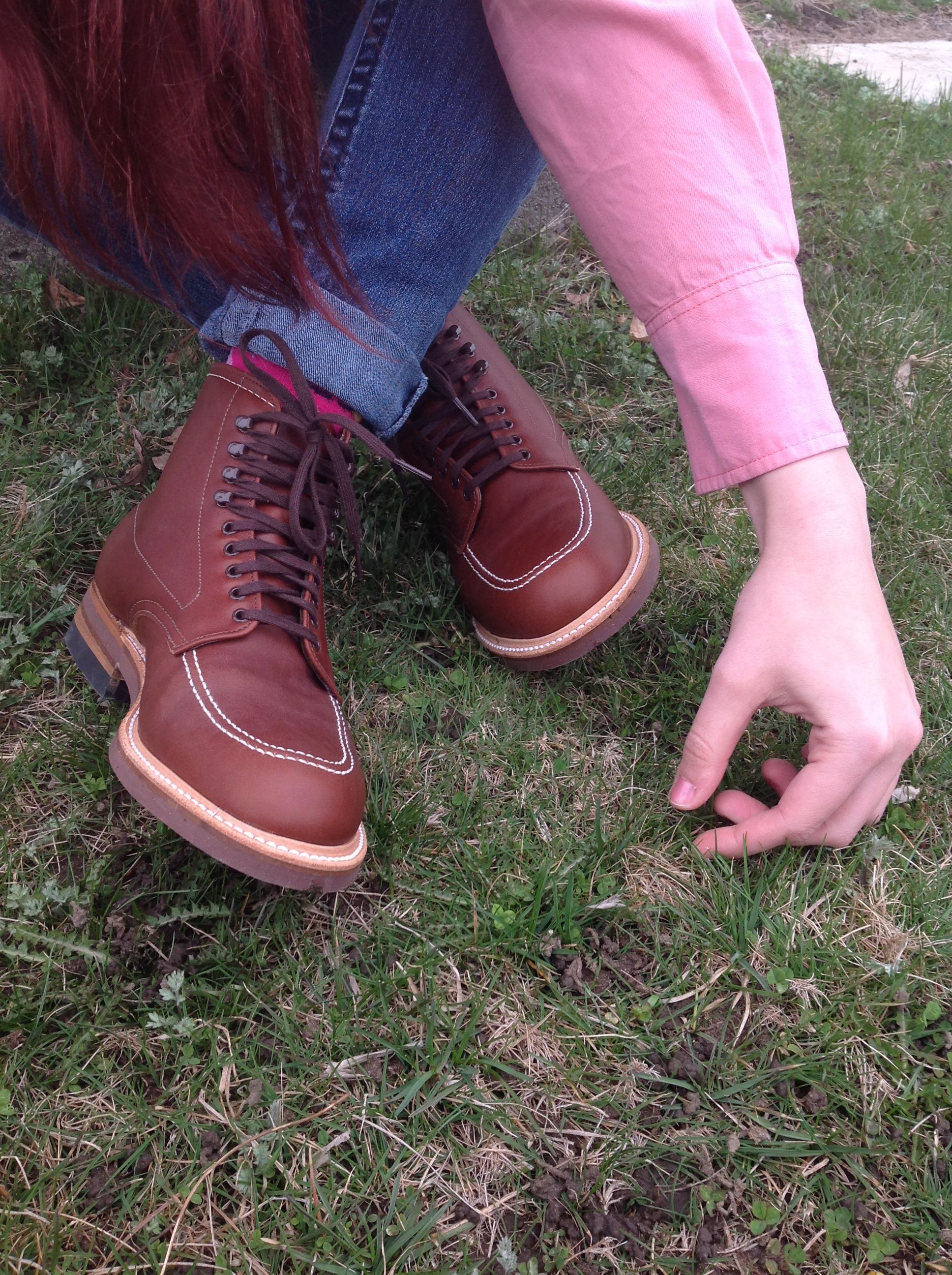 57ec656977d Liz rocks the Indiana Jane look in Alden 405's. | Alden Indy Boots ...