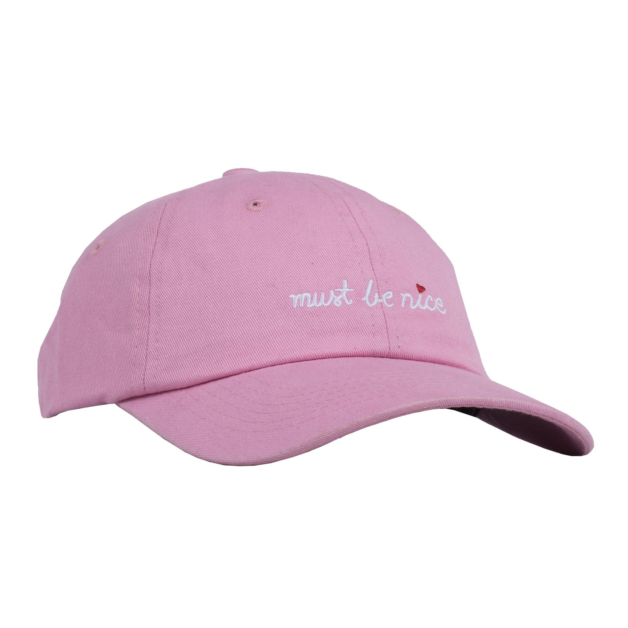 0a10a10790d8f RipNDip - Must Be Nice Script Dad Hat (in Pink) ☆