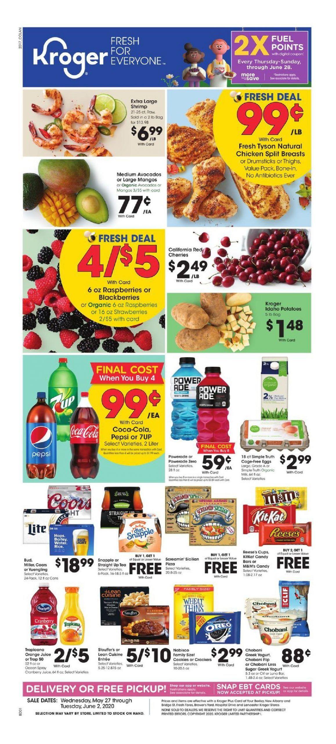 Kroger weekly ad valid may 27 jun 02 2020 sneak peek