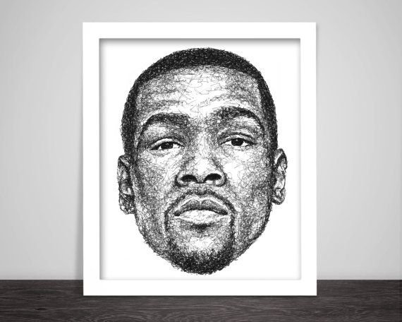 scribbled Kevin Durant by #Scribblezone #KevinDurant