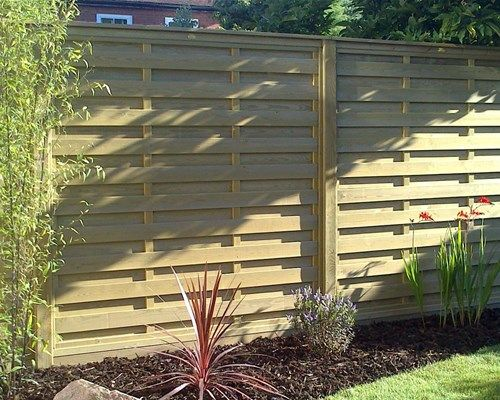 Horizontal Hit And Miss Fence Panels With Images Fence Panels
