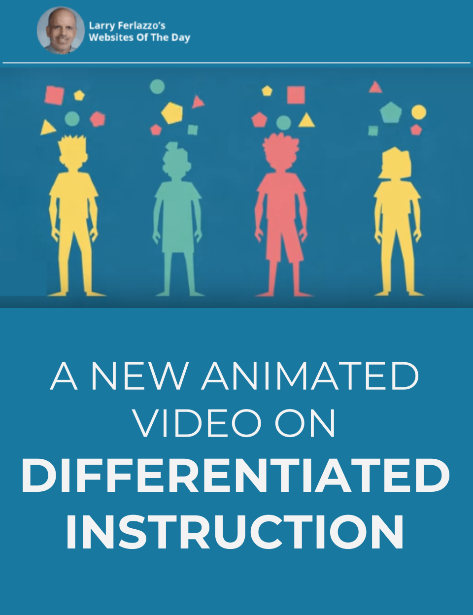 Here's A New Animated Video We Did With Education Week On Differentiated Instruction is part of Differentiated instruction, Differentiated instruction elementary, Differentiated instruction strategies, Differentiated learning, Differentiation strategies, Teachers learning - Katie Hull and I worked with Education Week to create this new   and, I think, nifty   animated explainer about differentiated instruction  Check it out and let me know what you think! …