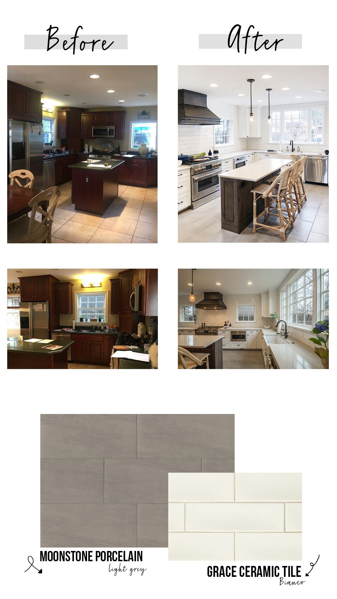 BEFORE + AFTER! Bright white kitchen transformation!! Using ...